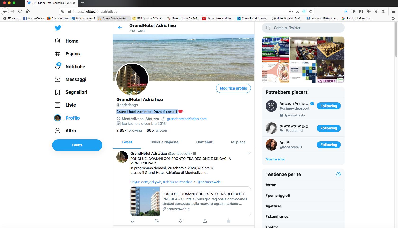 grand hotel adriatico twitter
