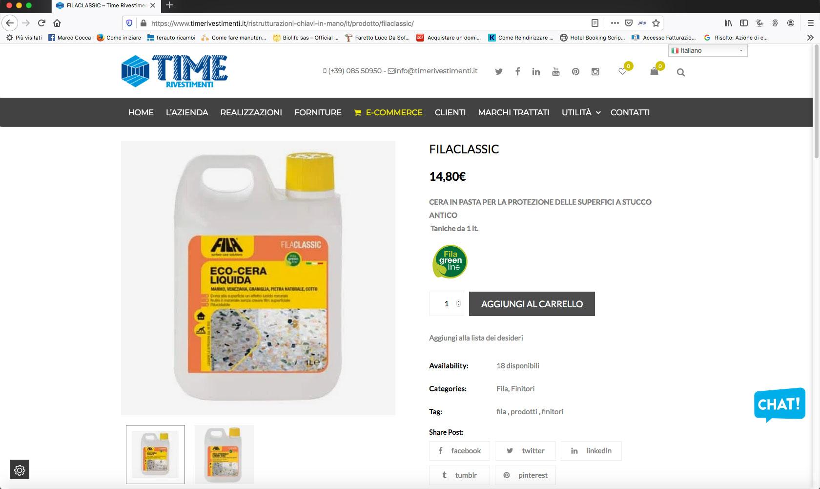 pagina time rivestimenti e-commerce