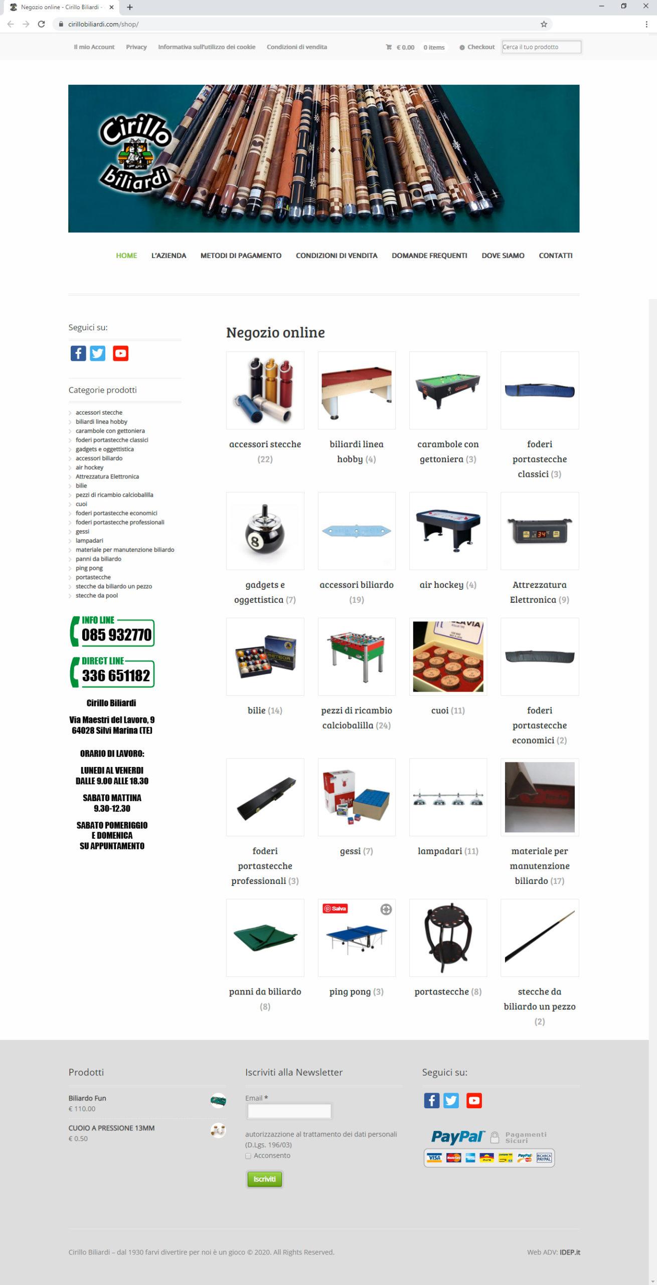 Cirillo Biliardi shop