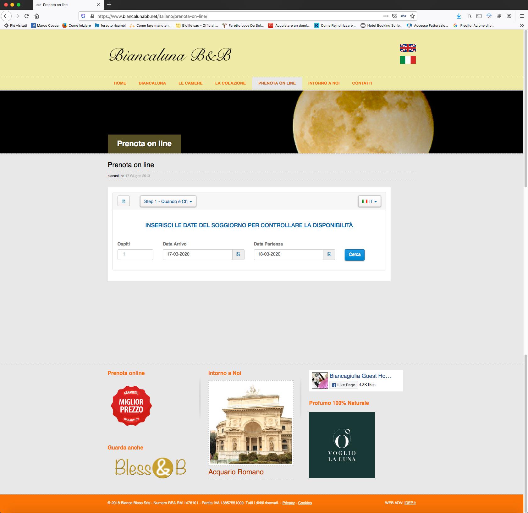 booking biancaluna